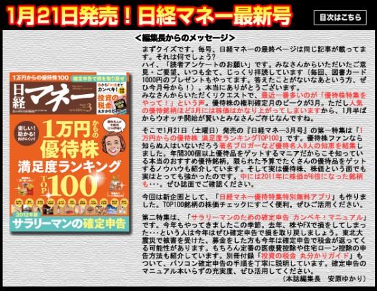 日経マネー2012年3月号