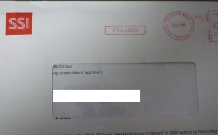 ベトナム株:サイゴン証券(SSI)から株主総会資料が届く