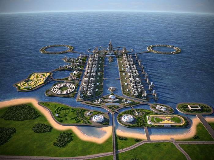 アゼルバイジャンの世界一高いビル建設予定地カザールアイランドに行ってきた