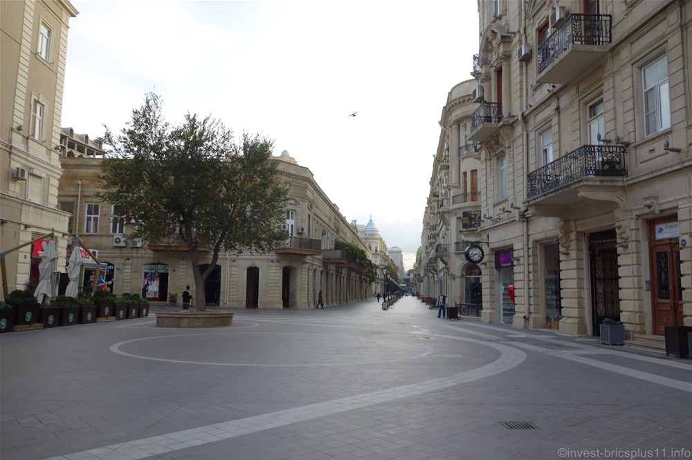 アゼルバイジャンのバクー市内