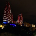 アゼルバイジャンのフレームタワーズ、世界遺産(旧市街、乙女の塔、アテシュギャーフ拝火教寺院)に行ってきた。