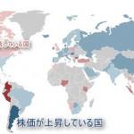 世界74ヶ国株価騰落率ランキング(2015年上期版)