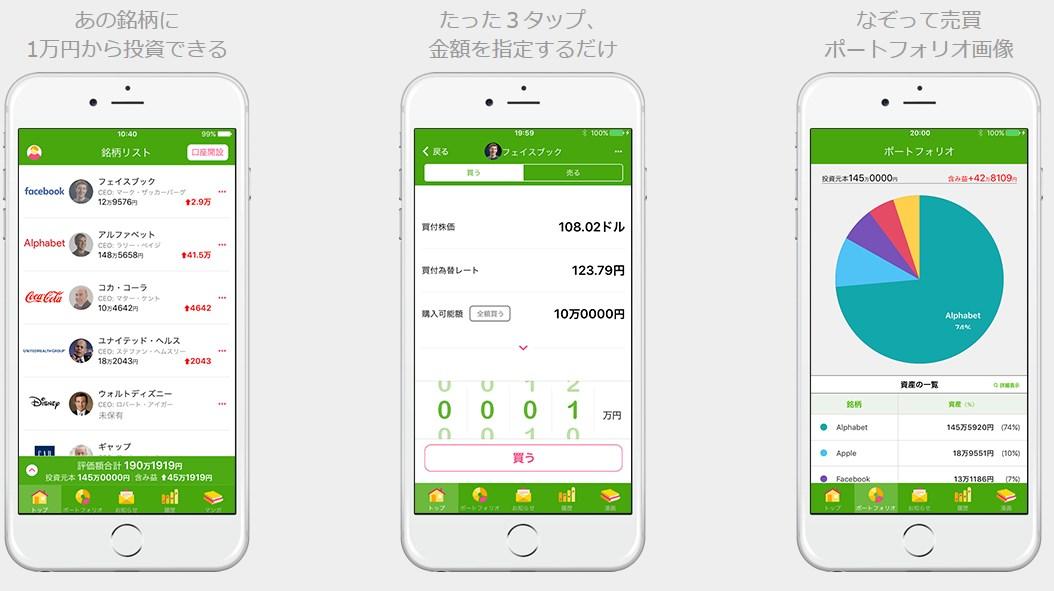 スマホ証券のアプリイメージ
